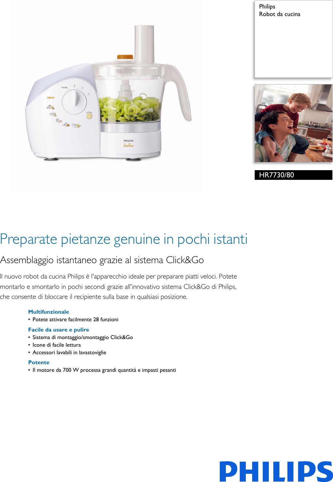 Philips HR7730/80 Robot Da Cucina User Manual Scheda Tecnica ...