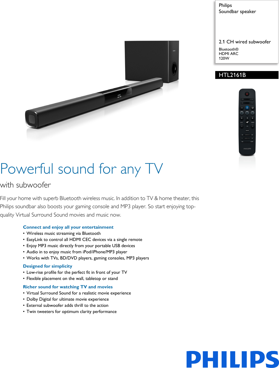 philips soundbar manual browse manual guides u2022 rh trufflefries co Philips Soundbar with Subwoofer Philips Soundbar HTL 2101