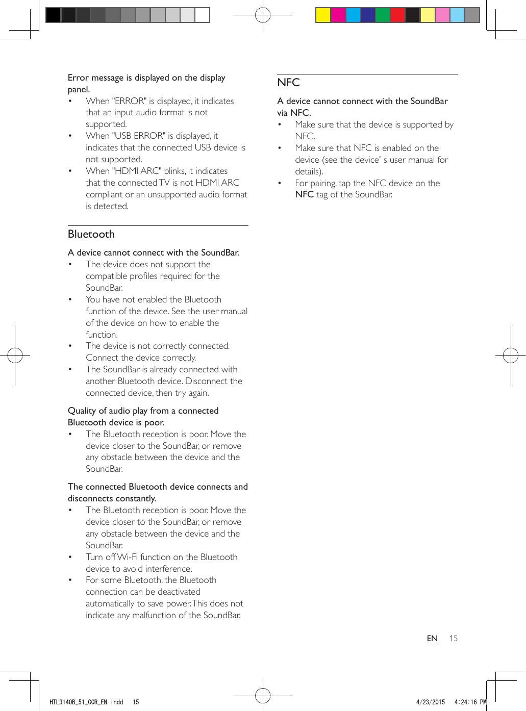 Philips HTL3140B/51 User Manual Htl3140b 51 Dfu Aen
