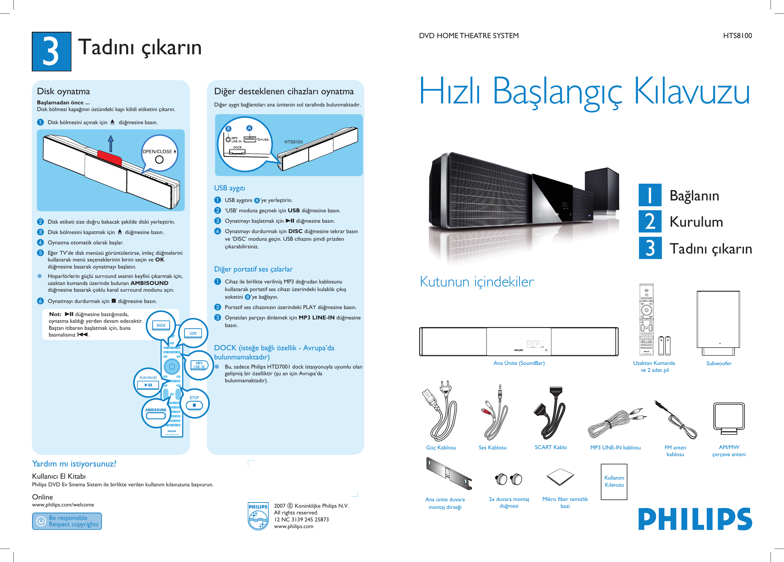 philips hts8100 12 hts8100 euqsg tur 25873 user manual pikaopas rh usermanual wiki Philips Soundbar CSS2123 Philips Soundbar DVD