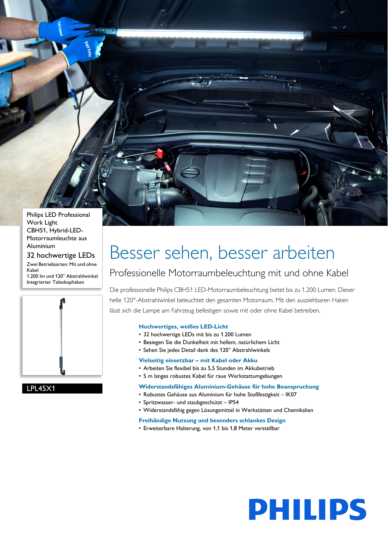 Philips LPL45X1 Leaflet Released Germany (German) User Manual Datenblatt  Pss Deude