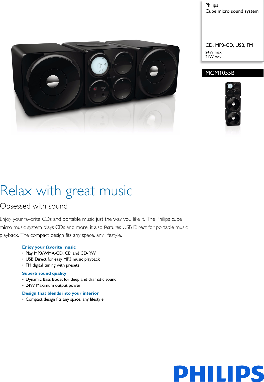 Philips Mcm1055b 98 Cube Micro Sound System User Manual Leaflet Bass Boost Section Output Driver With Ic Pss Engsg