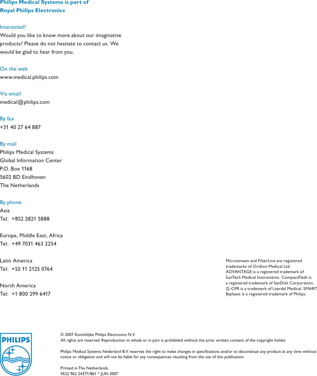 Philips 4522_962_24371 MRx Monitor/Defibrillator With Q CPR