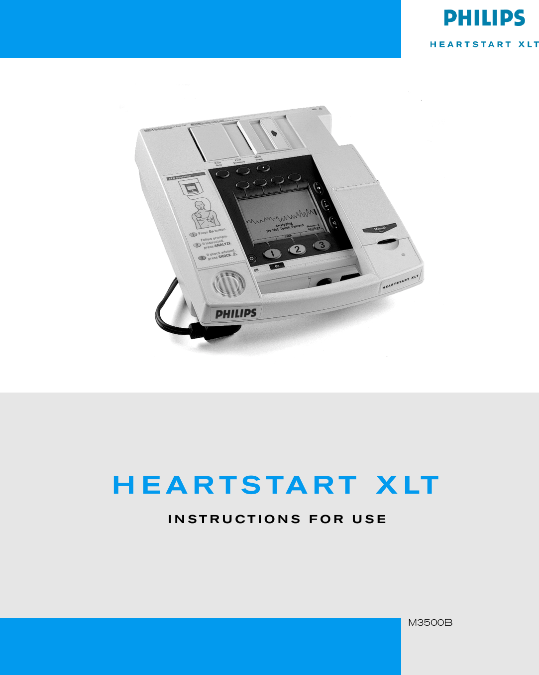 Philips Heartstart Xlt M3500B Users Manual