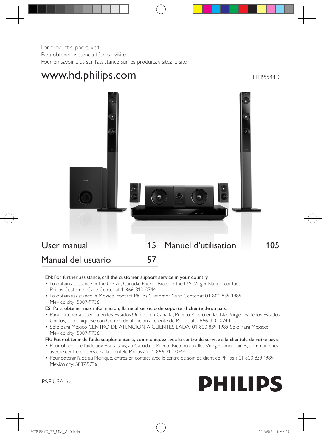 Philips Htb5544D F7 Owner S Manual