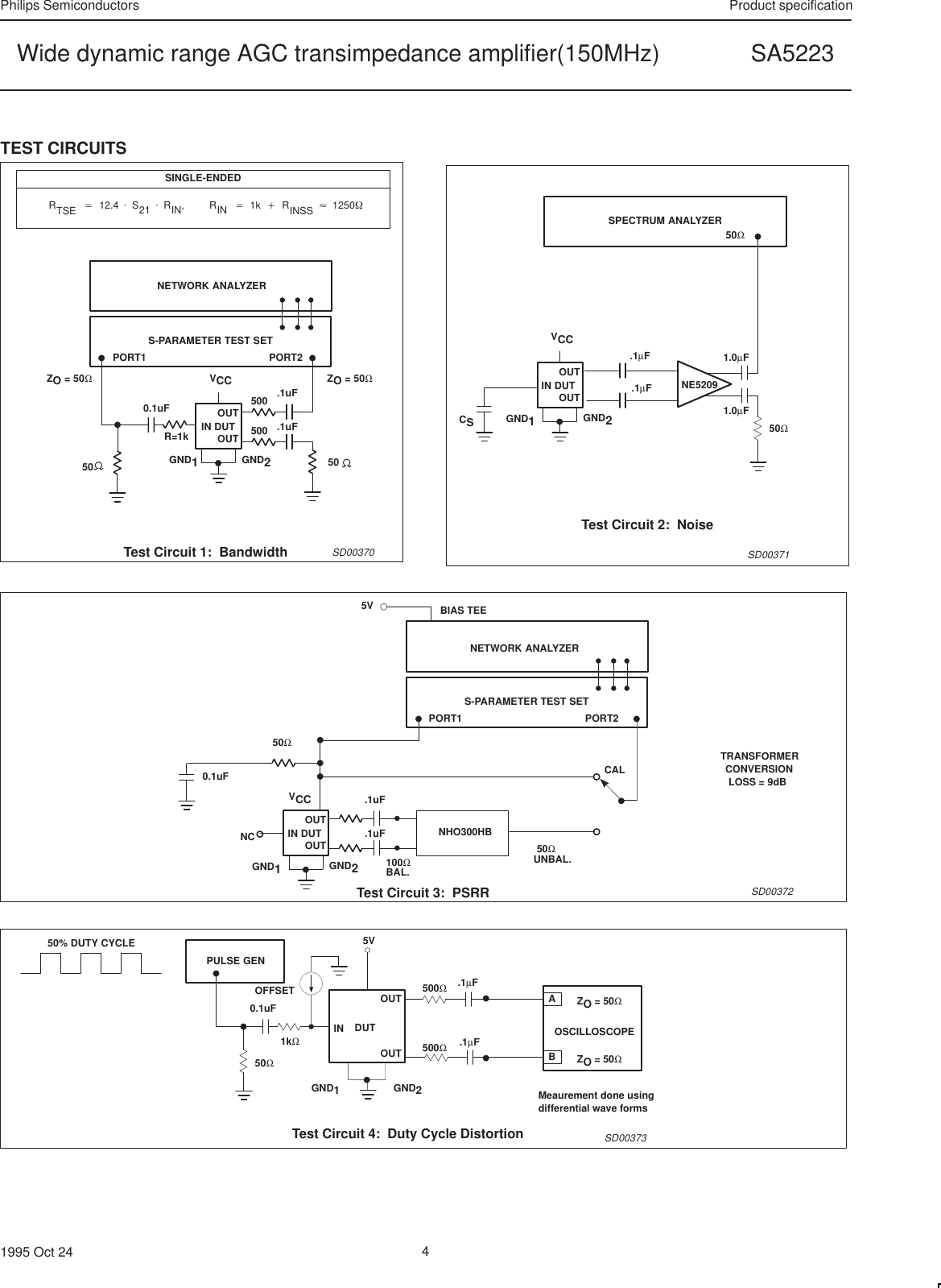 Philips Sa5223 Users Manual Wide Dynamic Range Agc Transimpedance The Amplifier Circuit Page 4 Of 12