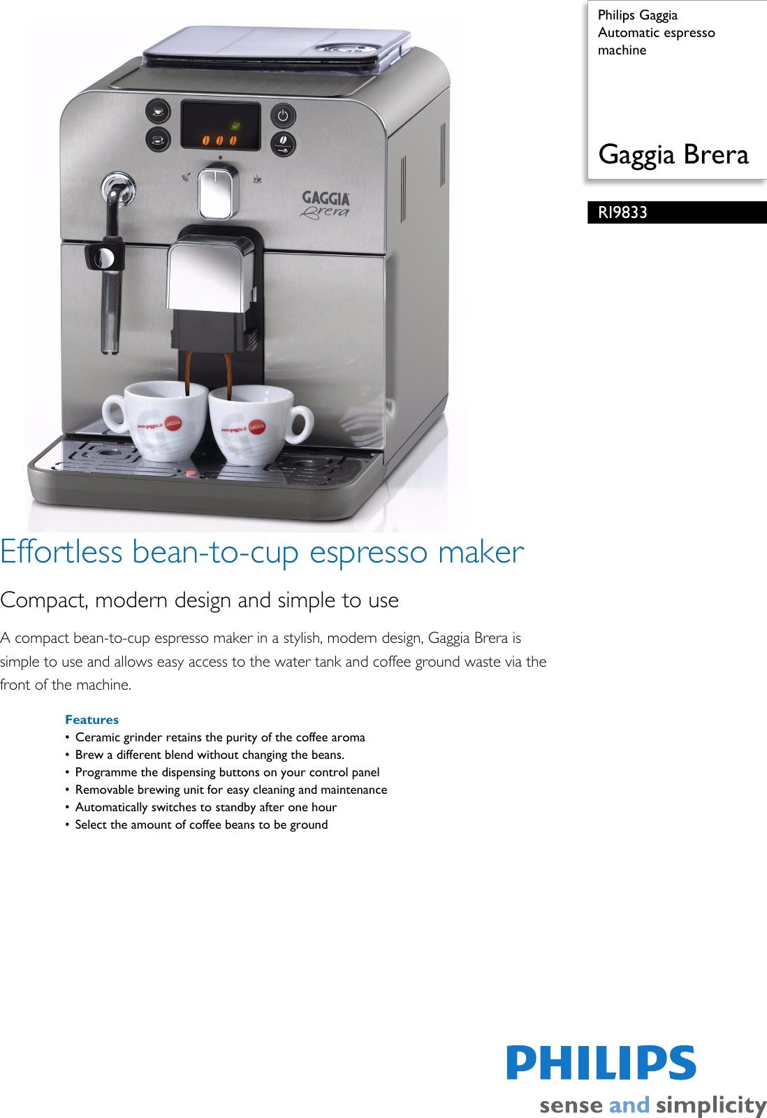 philips manual espresso machine