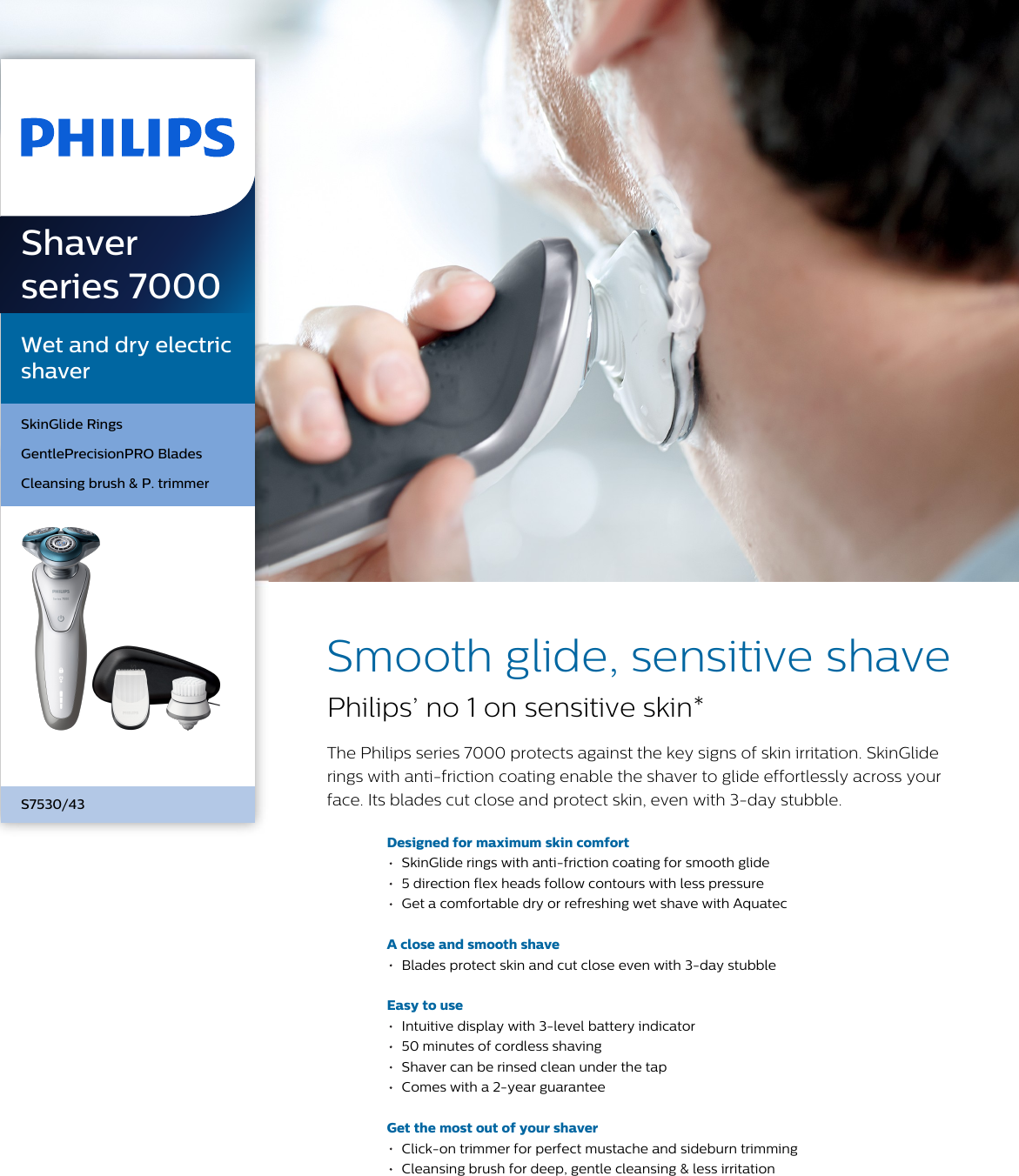 Philips S7530 43 Wet And Dry Electric Shaver User Manual Leaflet S7530 43  Pss 6135f29f236c