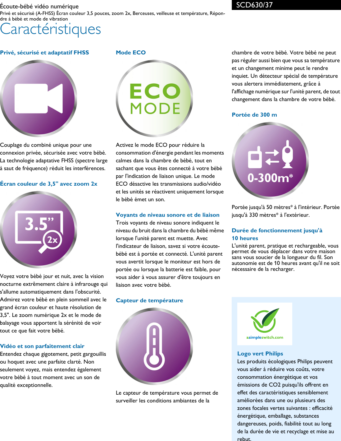 Philips SCD630 Leaflet SCD630_37 Released Canada (French ...