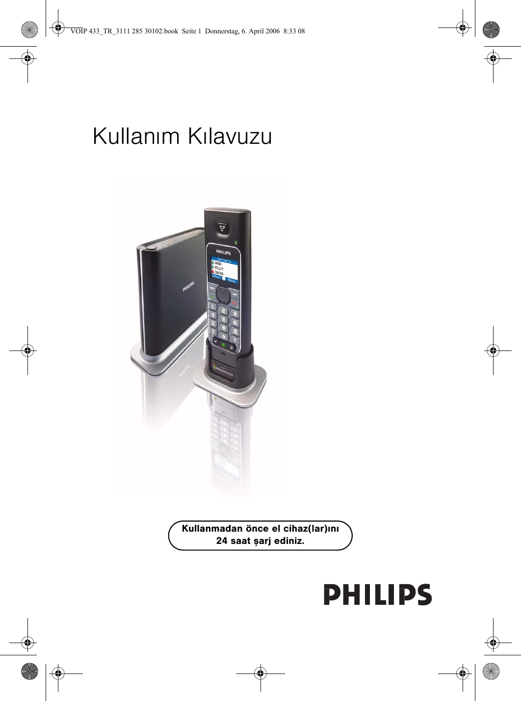 Philips Voip4331s 01 Voip 433 Tr 3111 285 30101 User Manual