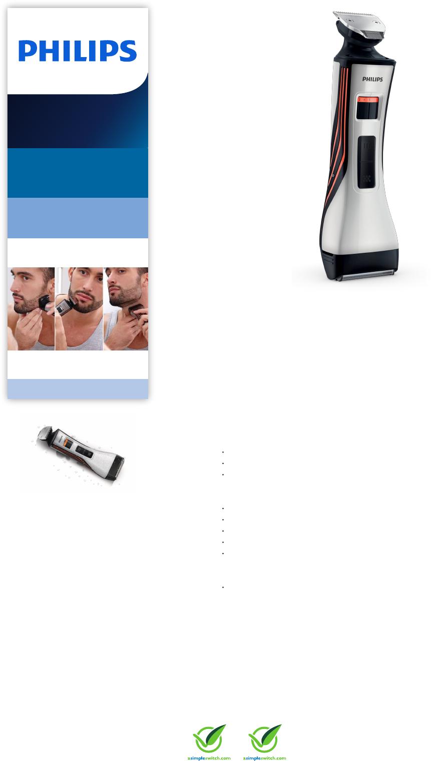 bc7cbd9c153 Philips QS6140/32 Waterproof Styler & Shaver Leaflet Qs6140 32 Pss Engnz