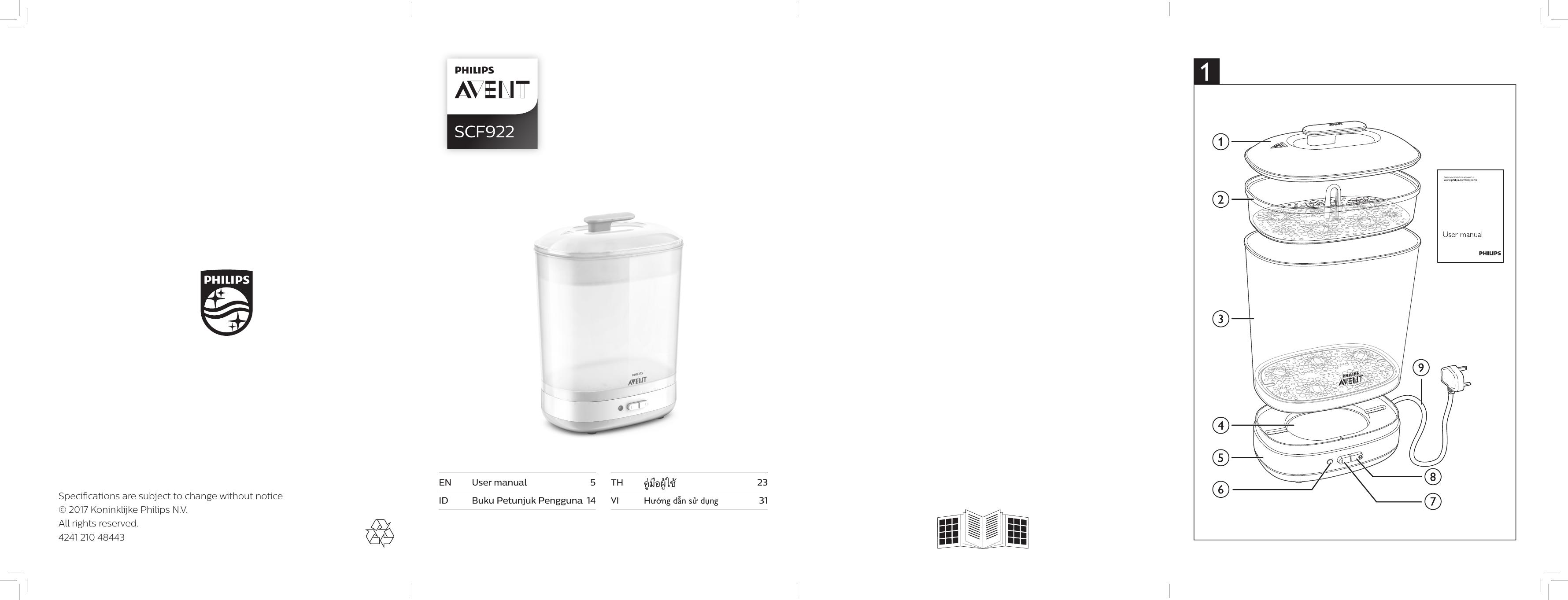 Philips Avent 2in1 Electric Steam Sterilizer Scf92203 Putih Daftar