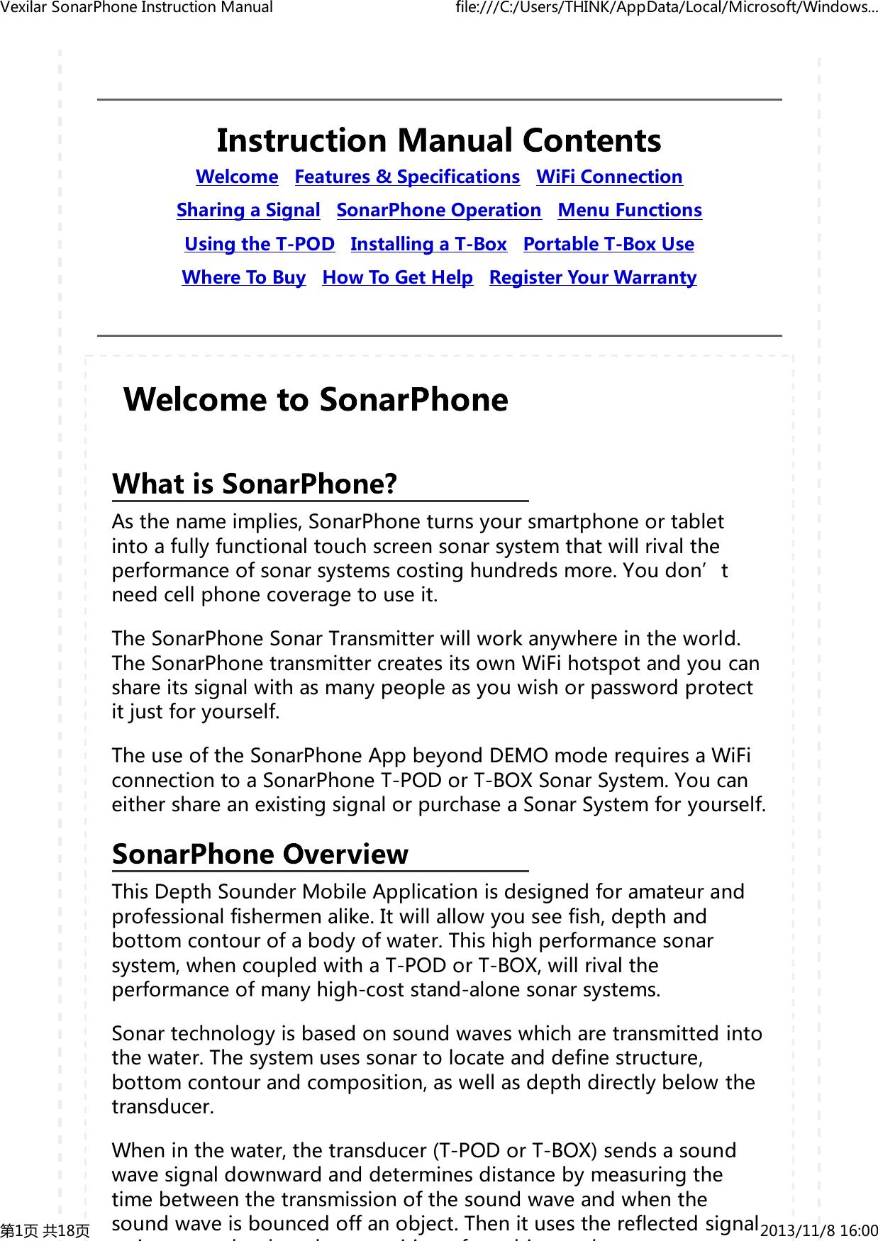 phiradar technology sp100 fish finder user manual vexilar sonarphone rh usermanual wiki Example User Guide Kindle Fire User Guide