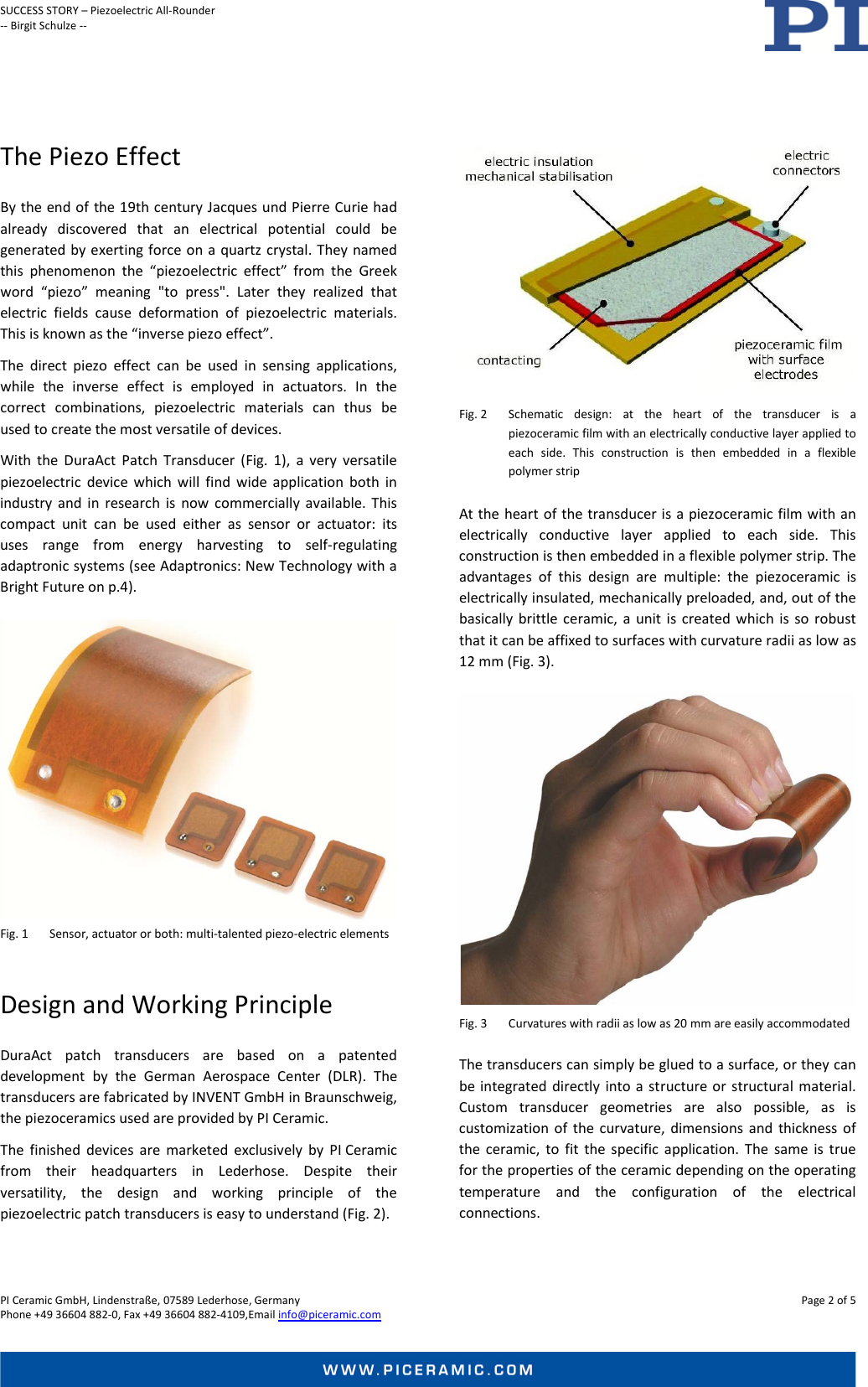 Physik Instrumente PI Ceramic SUCCESS STORY Dura Act Pi1022E