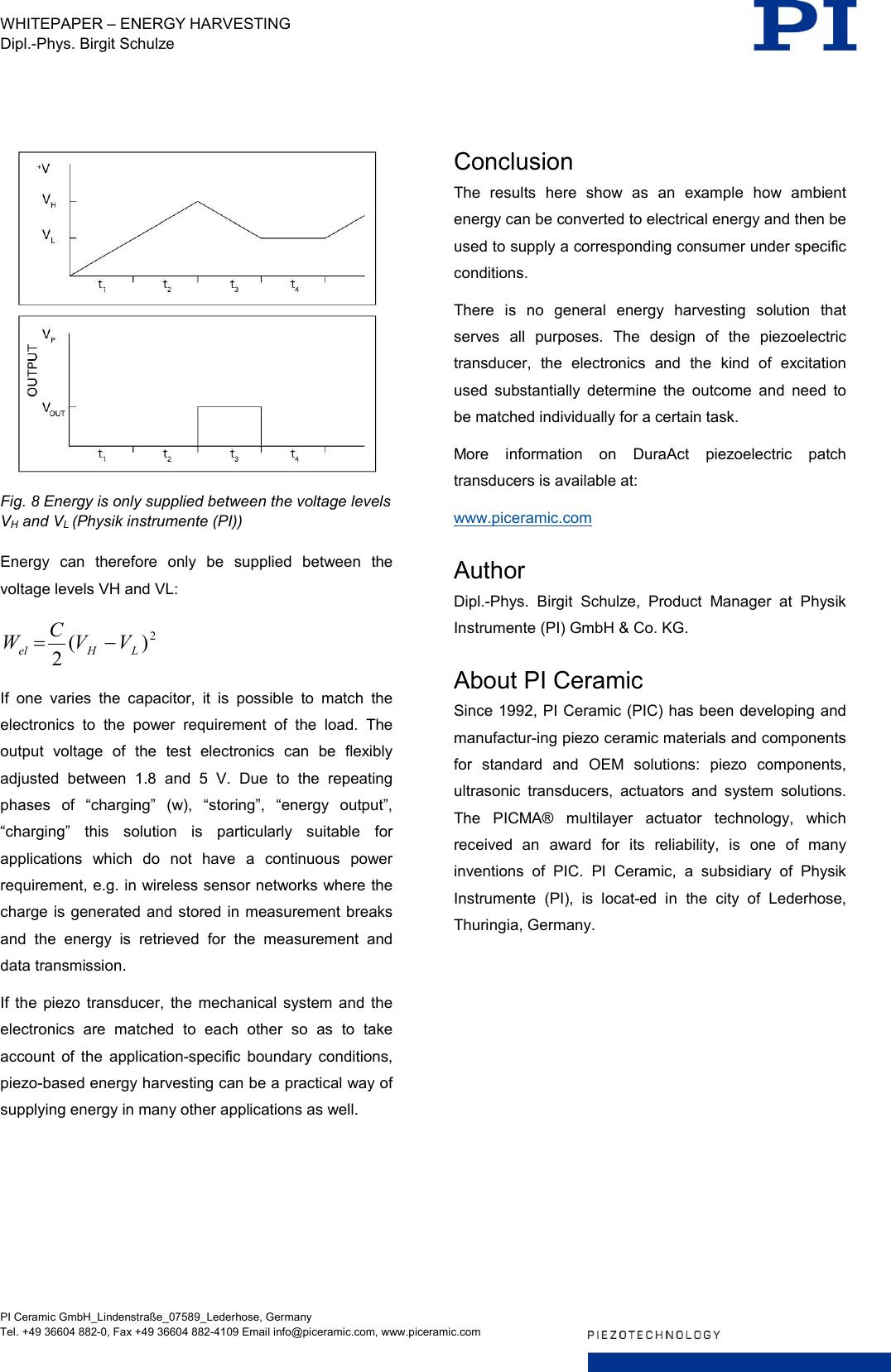 Physik Instrumente WP Pi1068 Energy Harvesting EN
