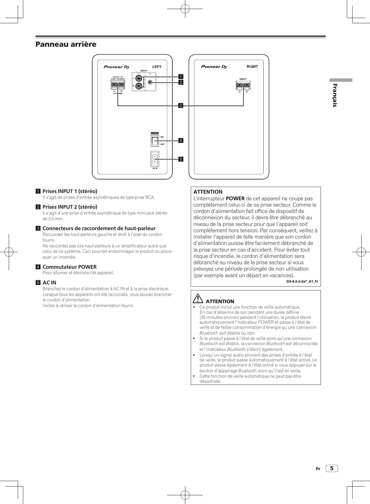 Type De Haut Parleur pioneer dj dm40bt active monitor speaker user manual part 1