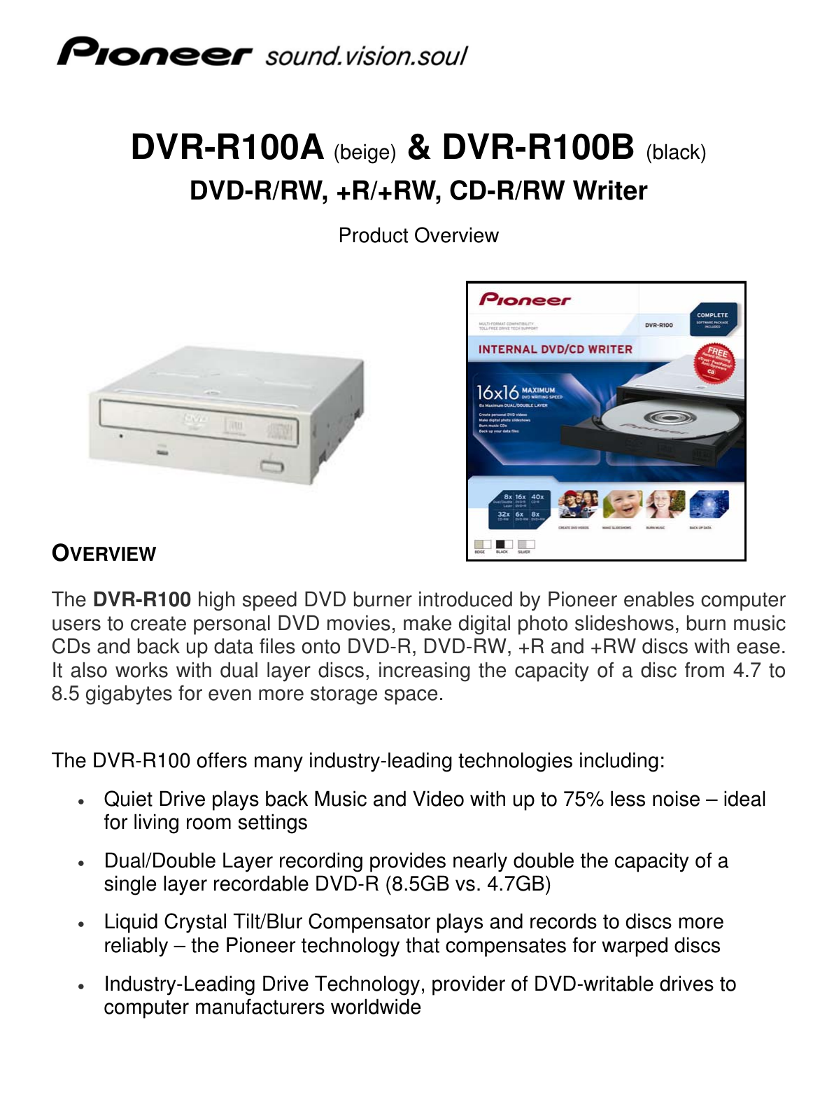 PIONEER DVR-R100 DRIVERS FOR WINDOWS 8