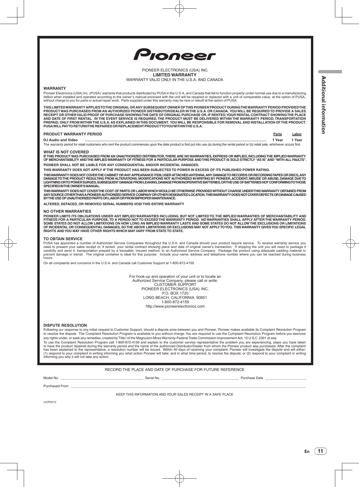 Pioneer 750K User Manual To The F5758d74 0c2a 44d6 aa2f 7d9e3597f811