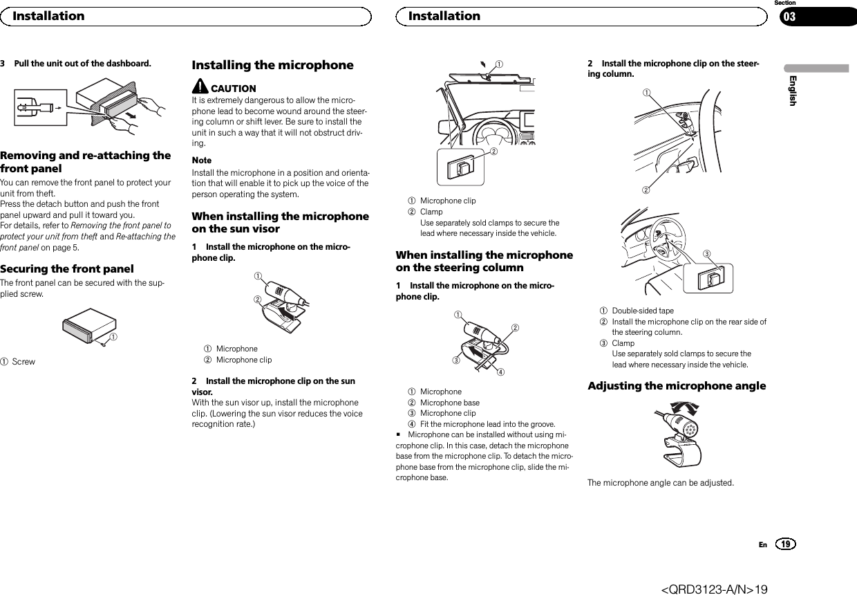 Pioneer K054 Cd Rds Receiver User Manual Short Term Confidential Deh X65bt Wiring Diagram 3 Pull The Unit Out Of Dashboardremoving And Re Attaching Thefront Panelyou