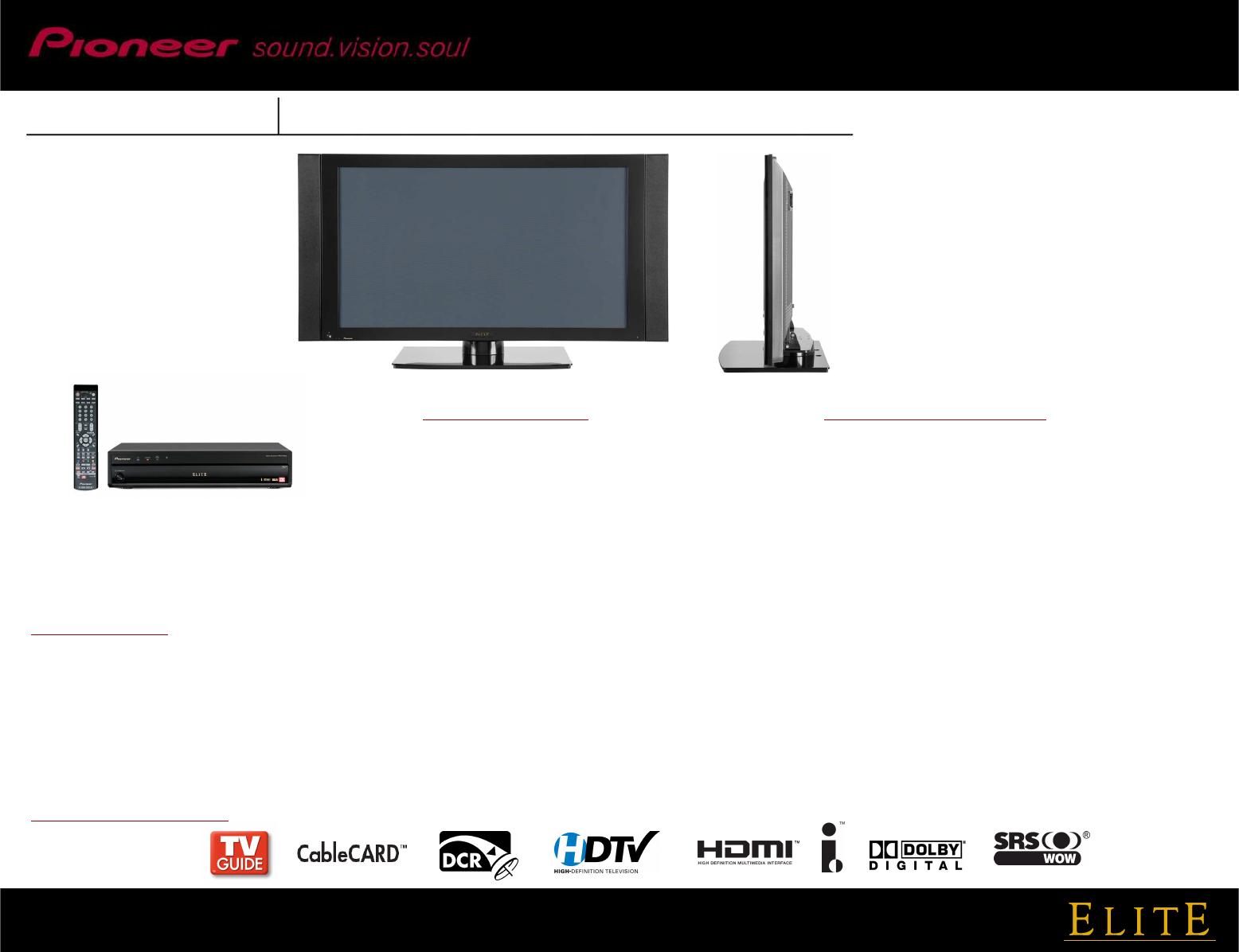 pioneer 43 high definition plasma television pro 930hd users manual rh usermanual wiki Pioneer Speakers Pioneer Games