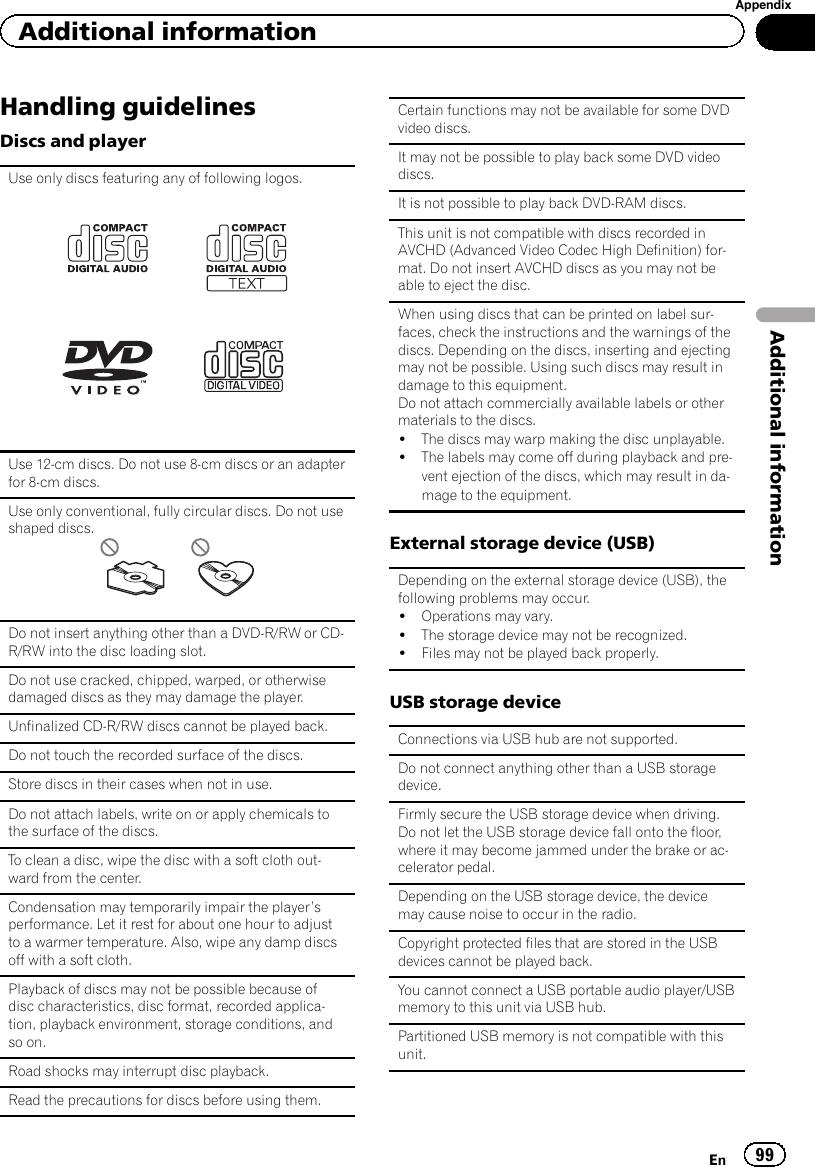 Pioneer Avh P1400Dvd Users Manual