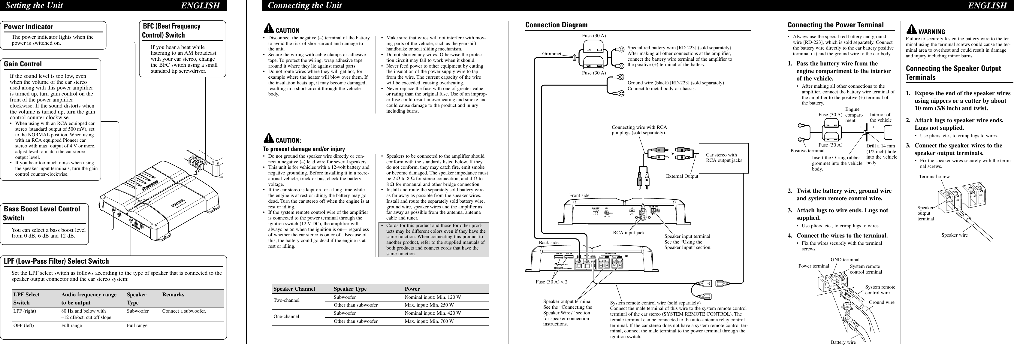 Wiring Diagram For Pioneer Gm 5300t. . Wiring Diagram on