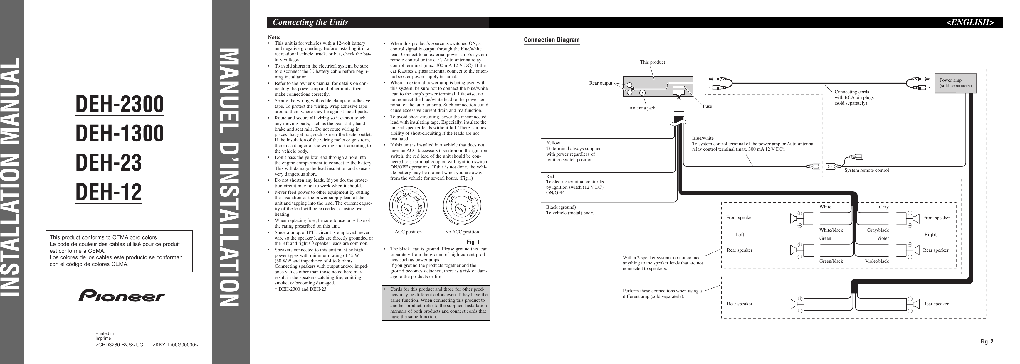 Pioneer deh 1300 users manual crd3280 b sciox Gallery