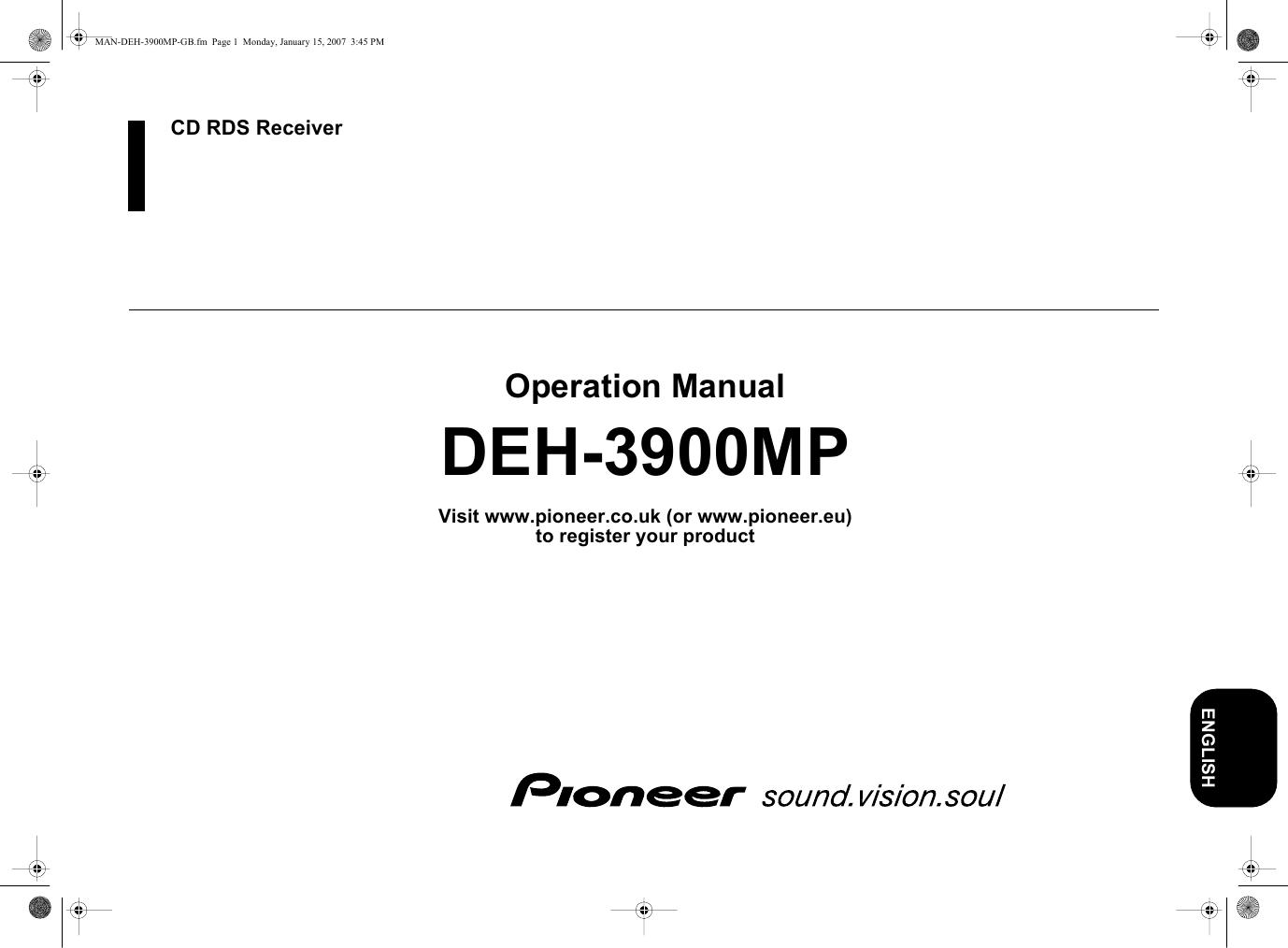 pioneer deh 3900mp wiring diagram pioneer deh 3900mp users manual  pioneer deh 3900mp users manual