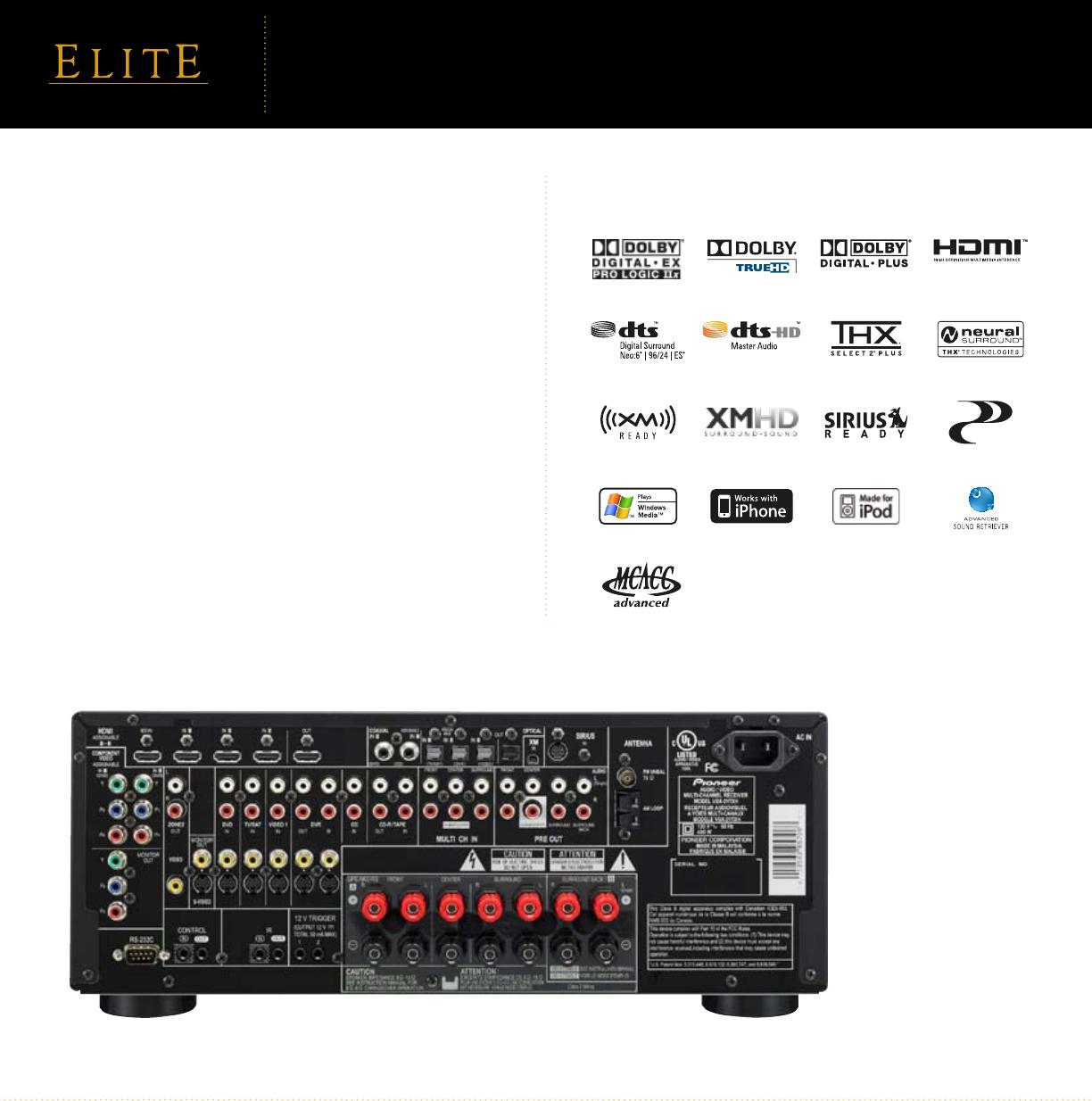 Vsx21txh manual av receivers array pioneer elite vsx 21txh users manual rh usermanual wiki fandeluxe Gallery