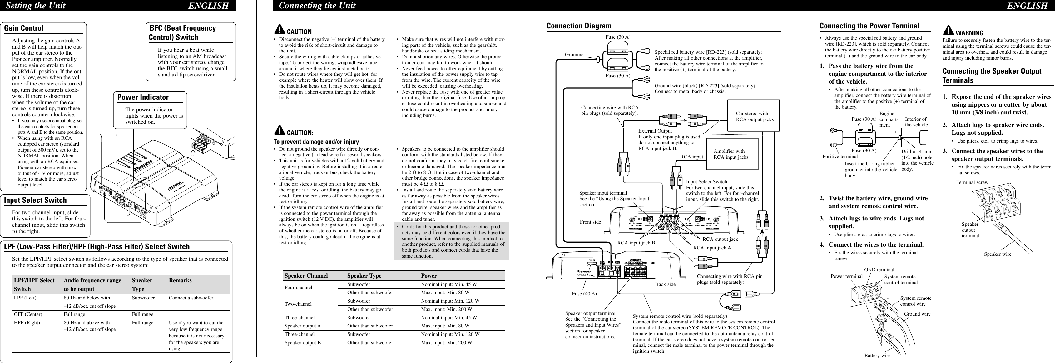 Pioneer Gm 4300f Users Manual Yrd5086 A U Fuse Box Terminal Crimpers Page 2 Of 8