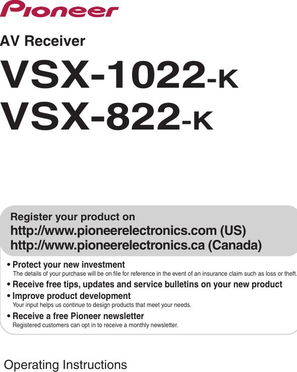 pioneer vsx 1022 manual