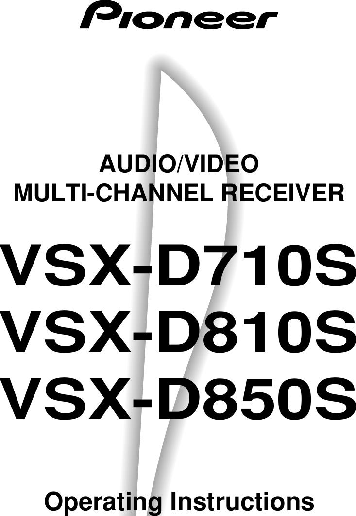Pioneer vsx d710s users manual xrb3004 a fandeluxe Gallery
