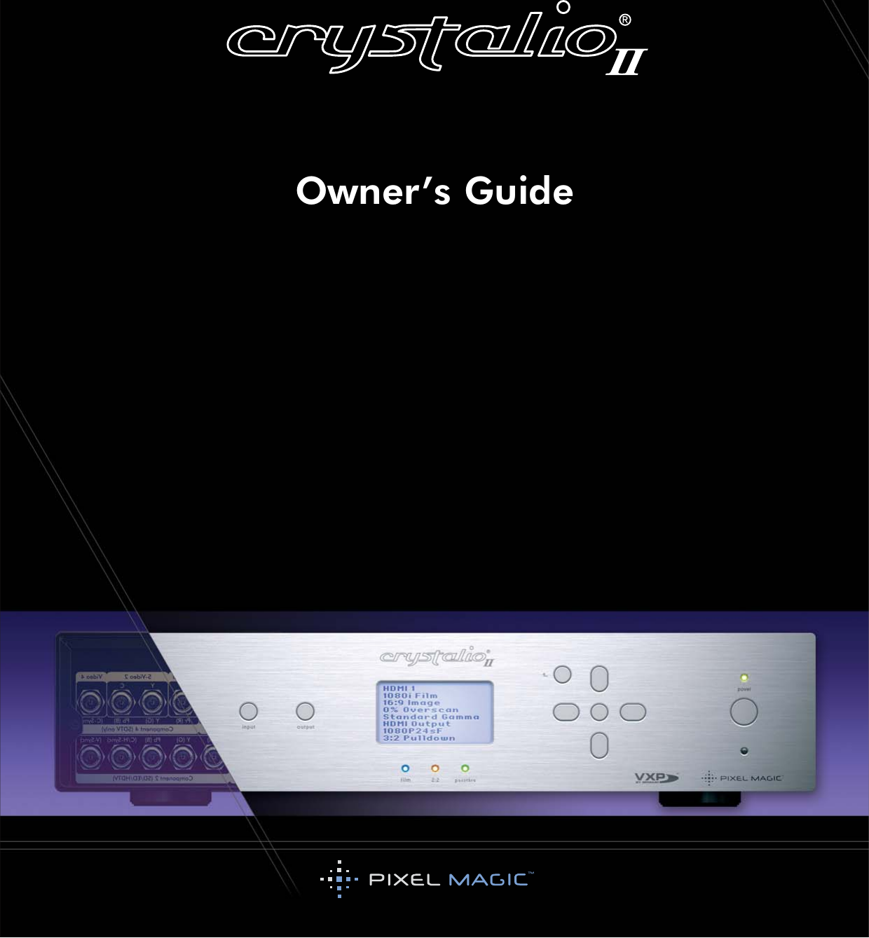 Pixel Magic Systems Vps3800 Users Manual Crystalio II