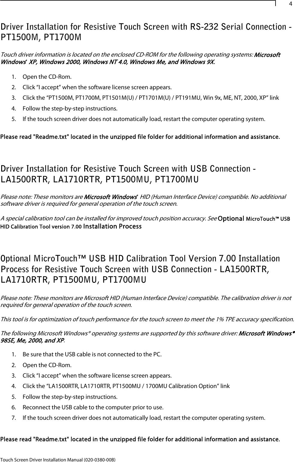 Planar LA1910RTC 020 0380 00B_touch_setup_guide_ User Manual