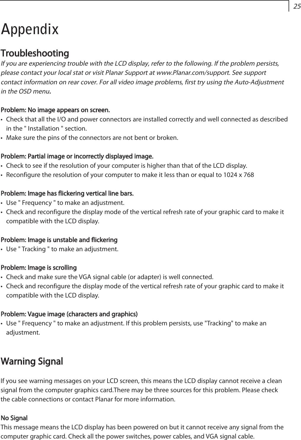 Planar LC1502R 6202 PLNR LC1502R_reformat qxp User Manual To