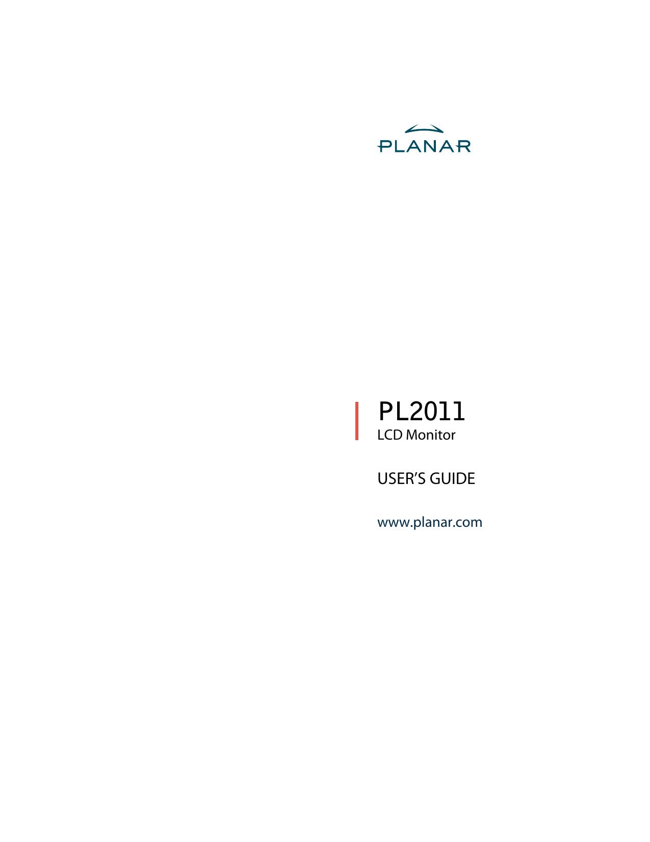 Planar PL2011 EH200 PL2011M R1 User Manual To The 71f8640a ffc6 416f bcf9  e40d0f0d7845