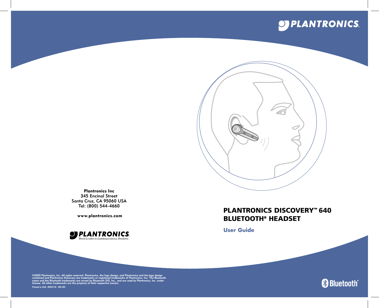 Plantronics D640 Bluetooth Headset User Manual Discovery Ug Indd