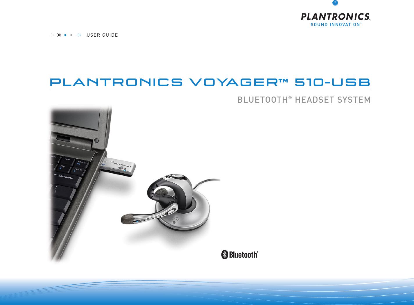 Plantronics Bluetooth Headset 510 Usb Users Manual