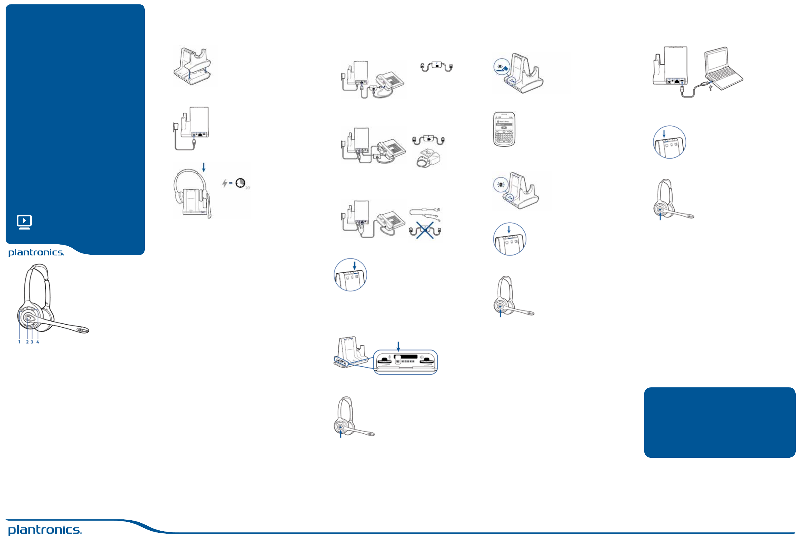 Plantronics Headphones W710A Users Manual