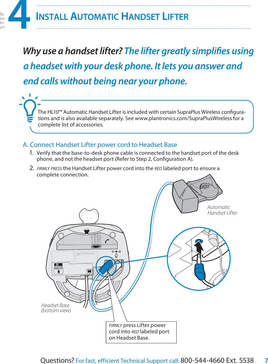 Plantronics Supraplus Cs351N Users Manual Wireless Setup Guide