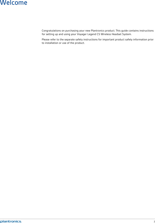 Plantronics Voyager Legend Cs Owners Manual