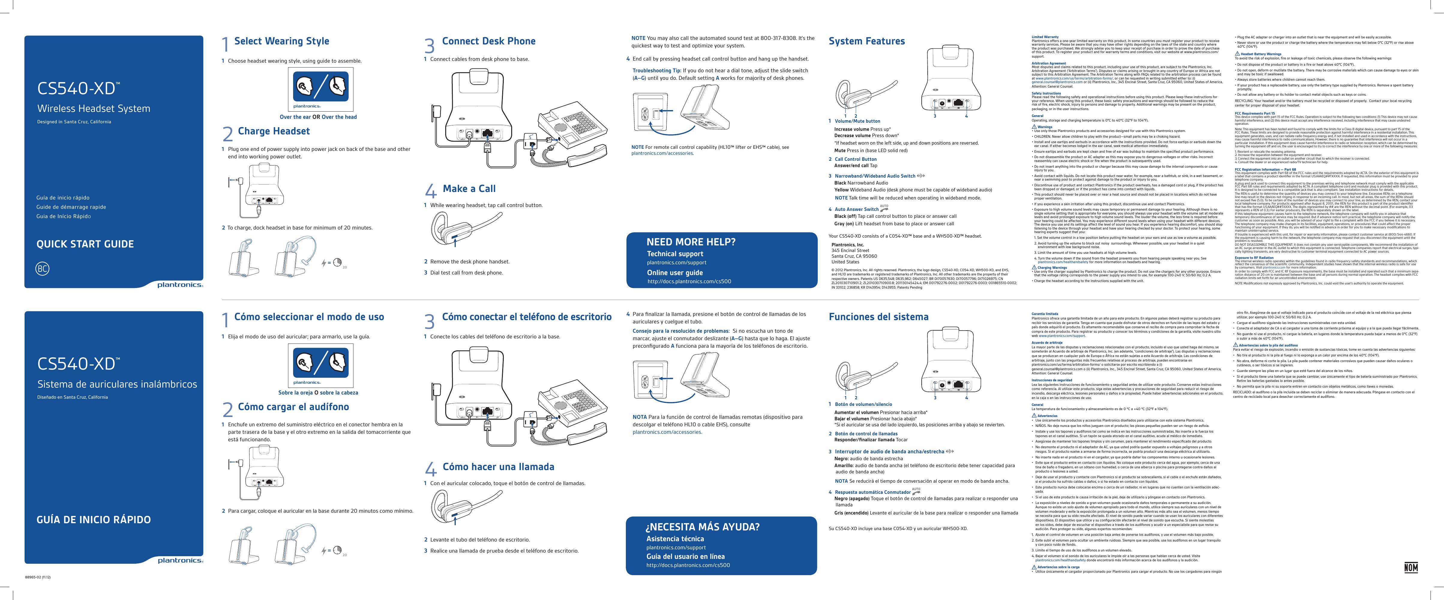 De guía headset manual