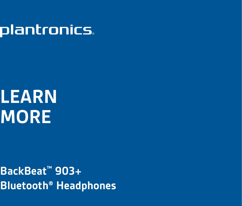 Backbeat 903+ setup and support | plantronics.