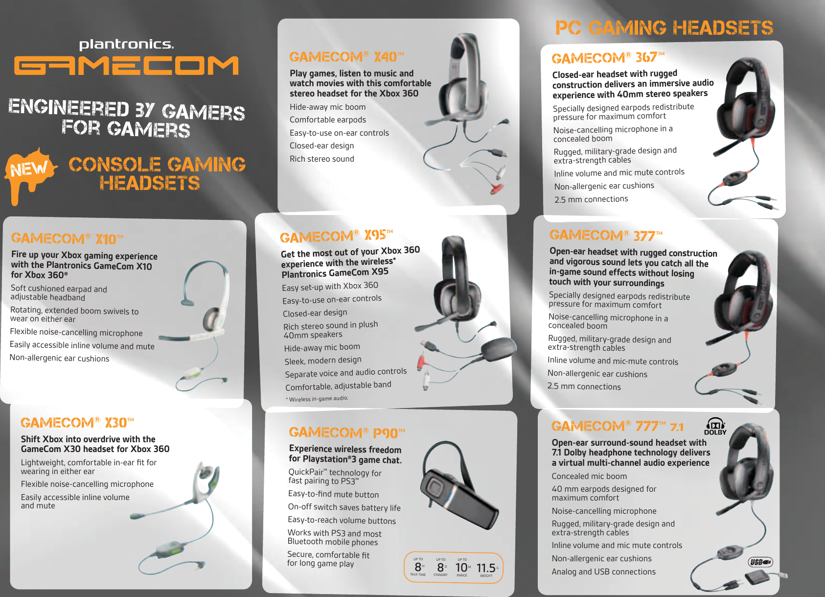 Plantronics Gamecom xbox ps