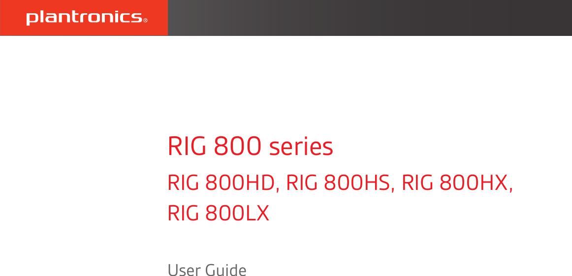 Plantronics Rig 800 ug