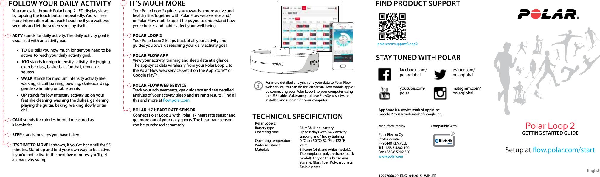 Polar Electro 1E Low Energy BT Wrist Worn Heart Rate Monitor