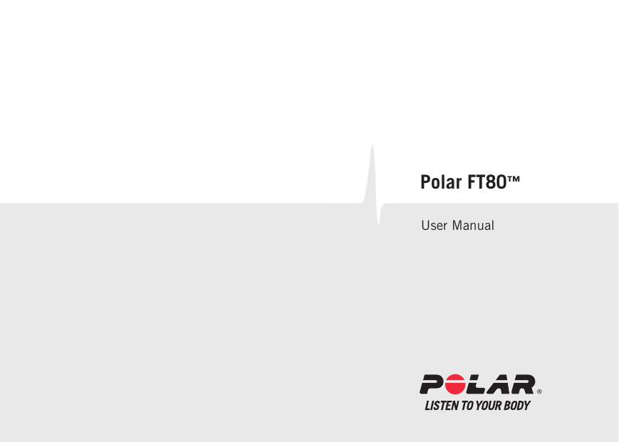 Polar heart rate monitor ft80 user's manual download free.