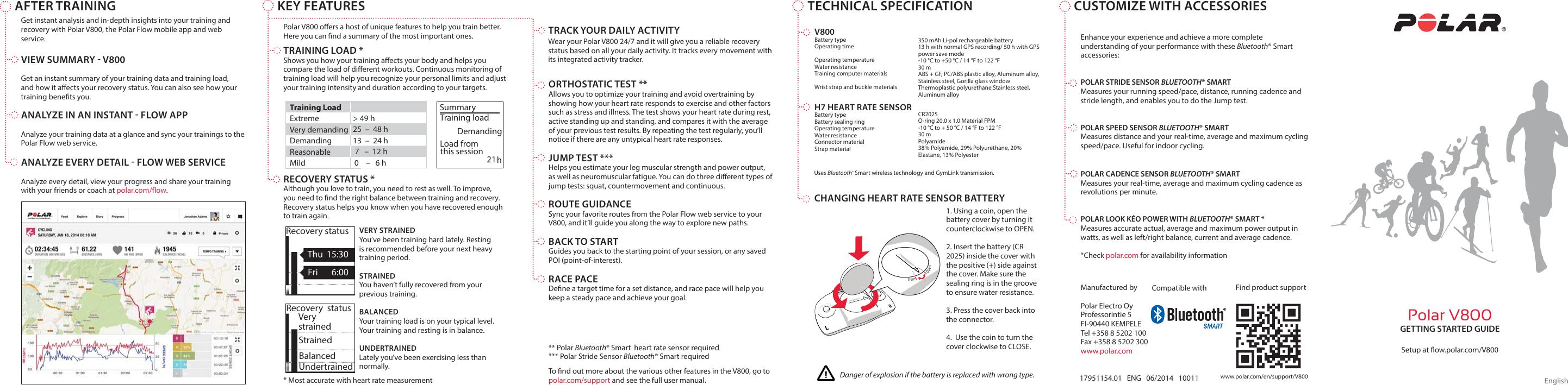 Polar V800 Getting Started Guide V800_GSG_UPDATE_EN
