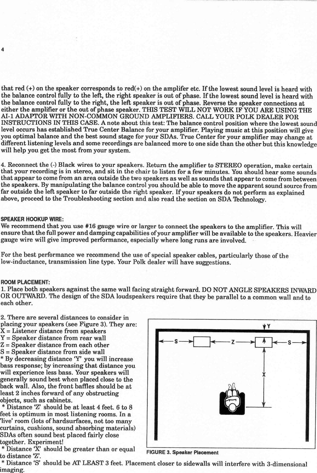 Polk Audio Loudspeakers Sda Users Manual