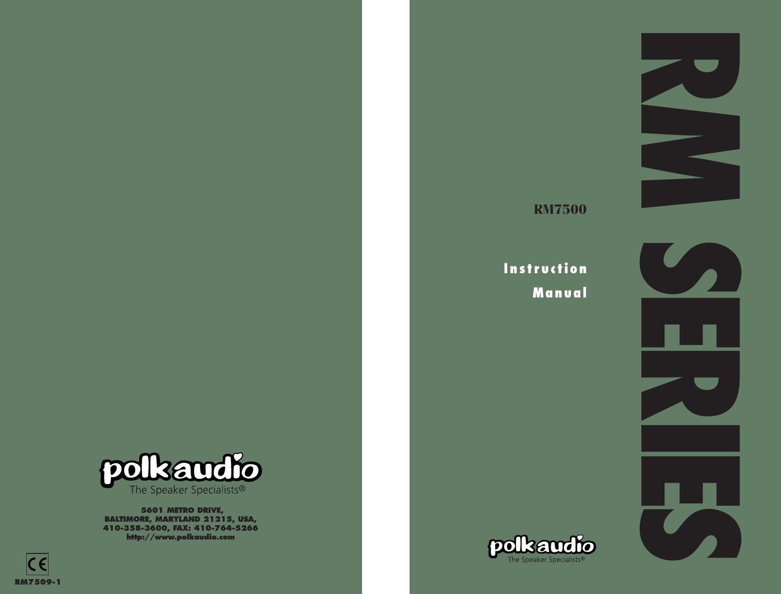 polk audio rm7500 users manual rh usermanual wiki